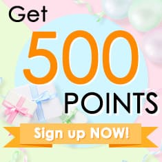 Sign in and get 500 points