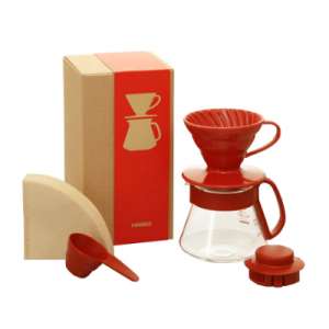 HARIO Color Dripper And Pot Red