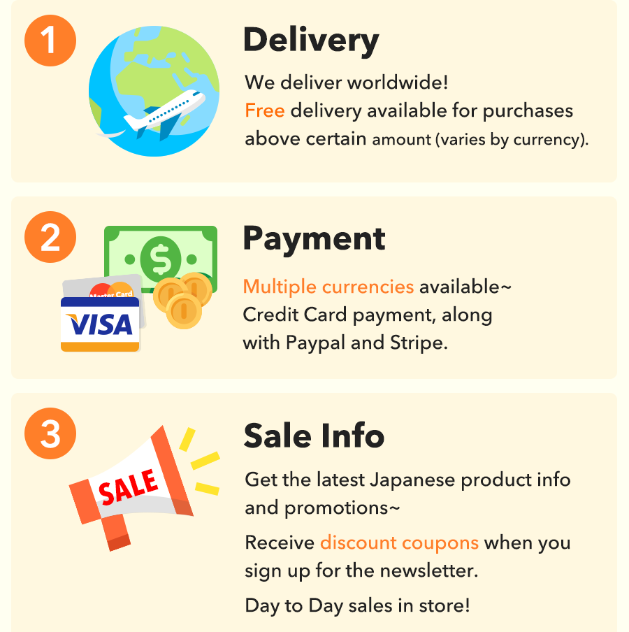 Delivery, Payment and Sale information